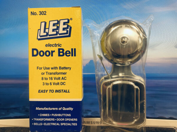 Lee 302 Electric Door Bell 3quot; Round Use Transformer or Battery 8 16VAC 3 6VDC $24.99