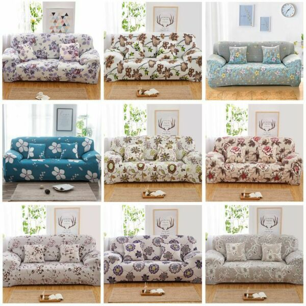 Modern 1 2 3 4 Seater Printed Sofa Slipcovers Spandex Stretch Couch Sofa Cover