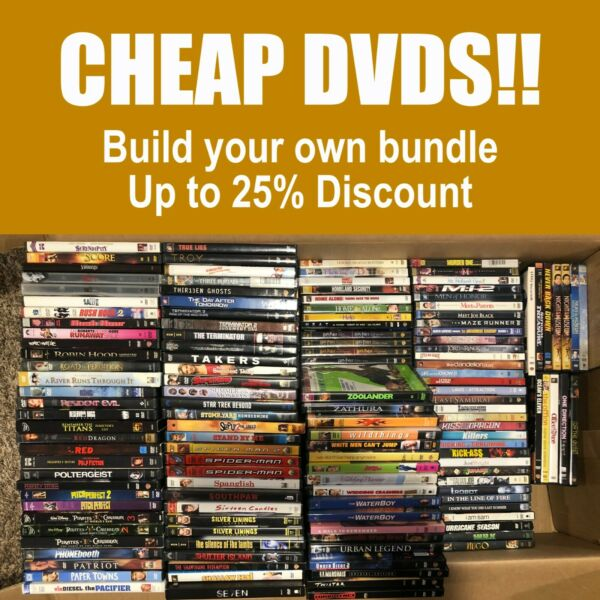 CHEAP DVDs Build Your Bundle 200 **Combined Shipping amp; Deep Discounts**