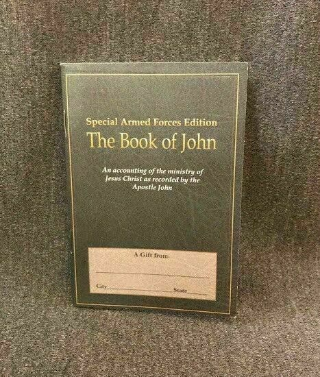 Vtg The Book of John Special Armed Forces Gospel Pocket Bible Collectible Army