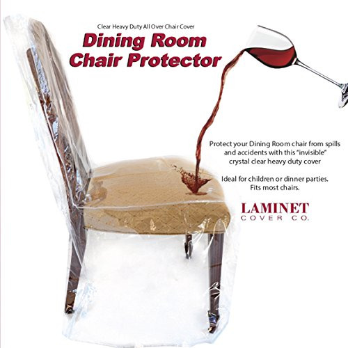 LAMINET Clear Furniture Protectors Slipcovers amp; Elastic Covers Dining Chair $52.99