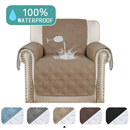 100% Waterproof Pet Furniture Covers Couch Cover for Leather Recliner Chair Arm $35.59