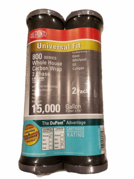 NEW Dupont 800 Series 10quot; Whole House Carbon Wrap Water Filter 2 Pack WFPFC8002 $13.99