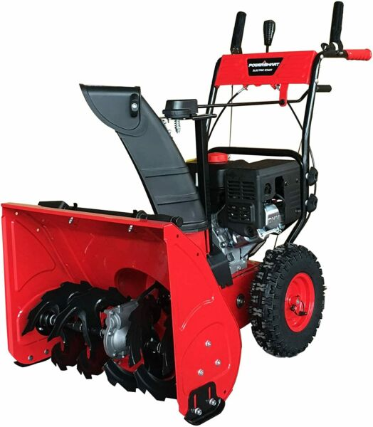 PowerSmart DB7279 24quot; Two Stage Gas Snow Blower with Electric Start