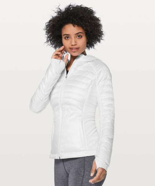 NWT Lululemon Down For A Run Jacket II SIZE:2 White $139.99