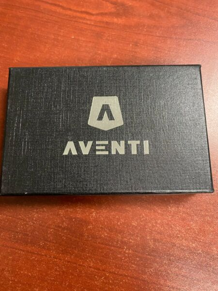 AVENTI Forged Carbon RFID Blocking Wallet Card Holder $100.00