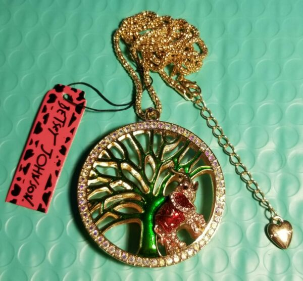 Betsey Johnson tree necklace pendant