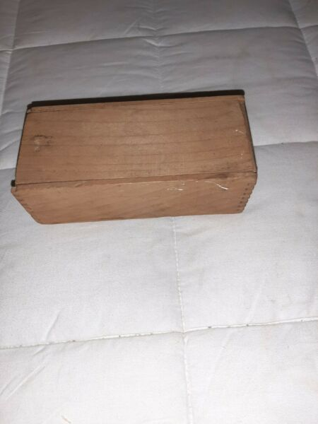 1900#x27;s Vintage Wooden Slide Lid Box With Dovetail Joints