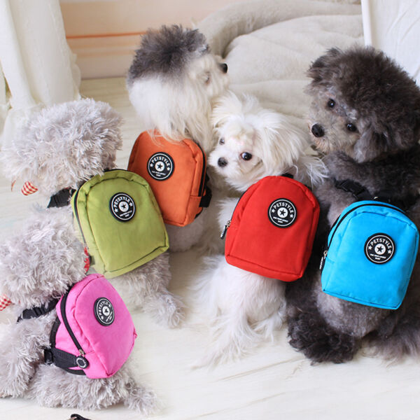 New Pet Dog Bag Outdoor Travel Backpack Pets Own Bag Nylon Bag LEASH 5 COLOR $8.98