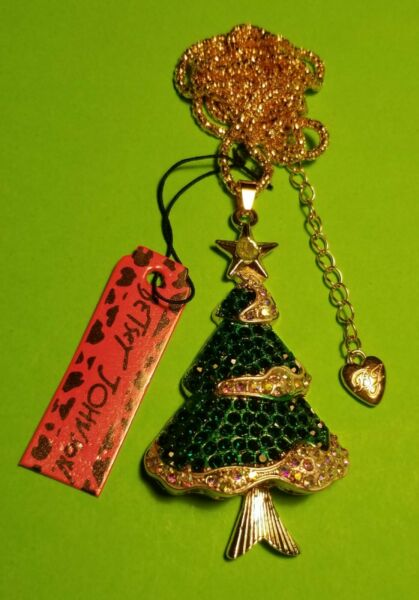 Betsey Johnson christmas tree necklace