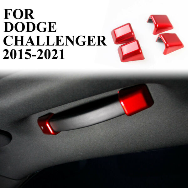 Red material front roof handle cover trim for Dodge Challenger 2015 2020 $19.99