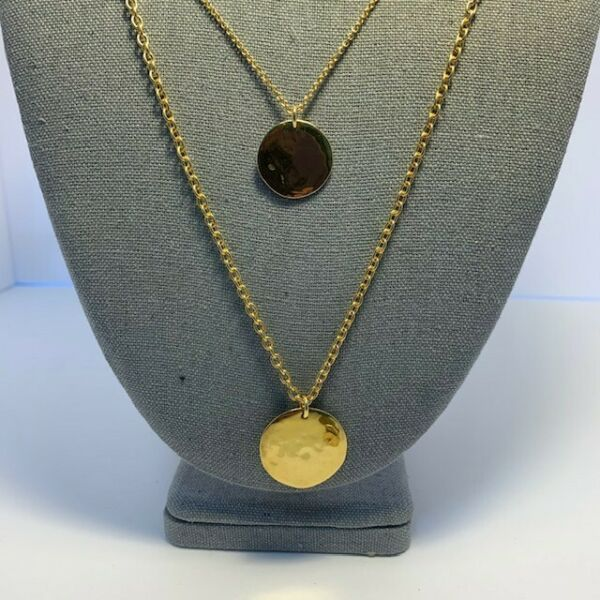 J.Crew goldtone necklace double stand $10.00