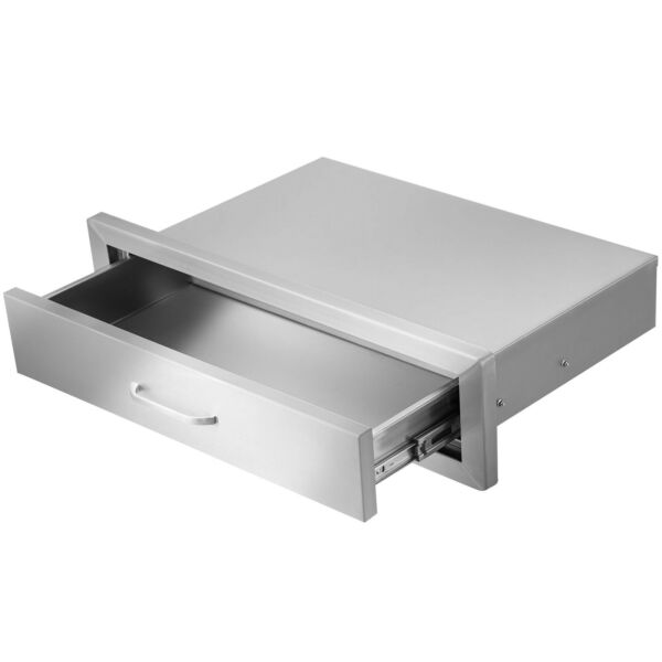 Stainless Steel Outdoor Kitchen Drawer 30quot;W x 6.5quot;H for Outdoor Grills Ovens BBQ