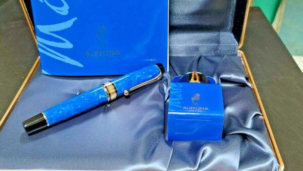 Aurora Fountain Pen Mare Limited Edition Blue NEW