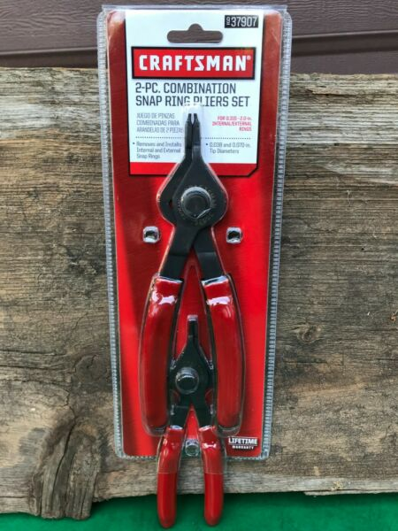 Craftsman 2 PC. Combination Snap Ring Pliers Set #37907 New