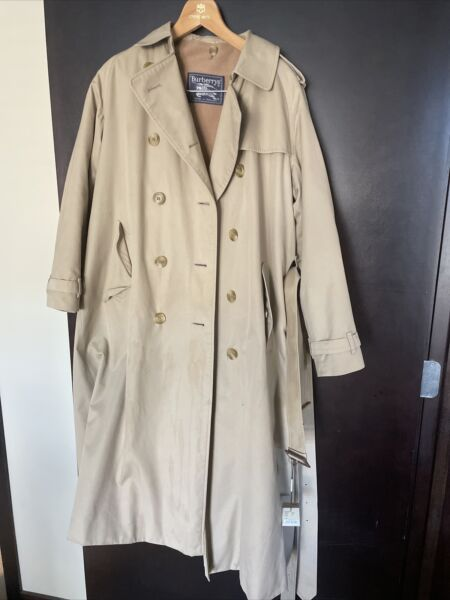 Vintage Burberry Trench Coat Women Size Small NWT NOS $499.99