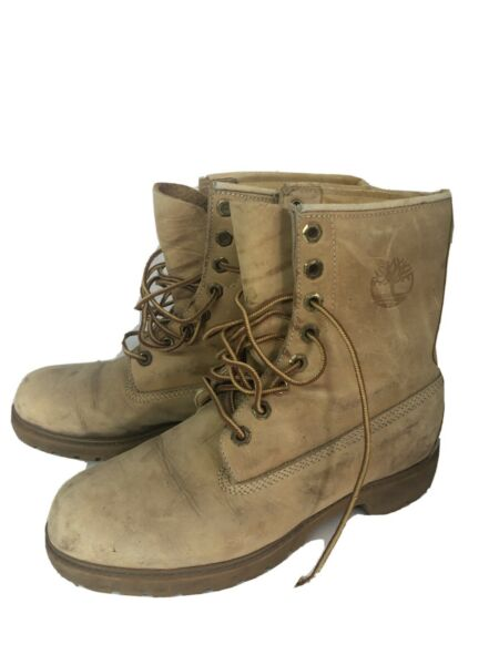 Vintage Womens timberland Work Boots 8.5 8 Leather $39.99