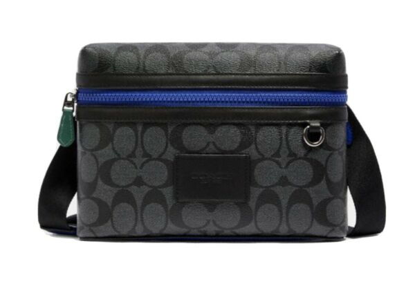 NEW AUTHENTIC Coach Small Carrier Bag Black Colorblock Unisex $105.00