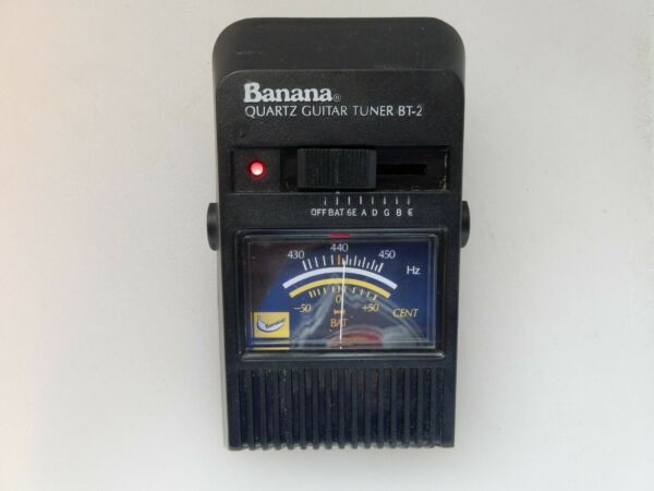 Vintage Banana BT 2 Quartz Electric Guitar Tuner Exc Used Cond TESTED Working