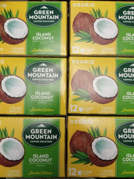 Keurig Green Mountain Island Coconut K Cups 72 Ct Best by 2 2021