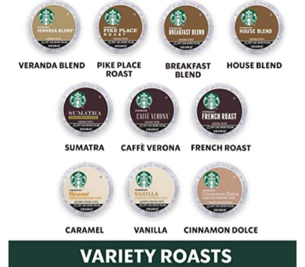 Starbucks Coffee Pods Medium Dark Roast Variety Pack 40 pods BB 9 2019