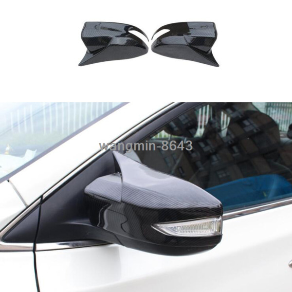 16 2019 For Nissan Maxima Carbon Fiber look ox horn Rear view mirror cover trim $61.74