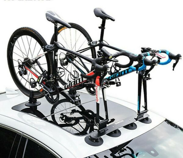 Bicycle Carrier Car Rooftop Bike Rack Sucker Quick Release Upright Roof Rack $179.89