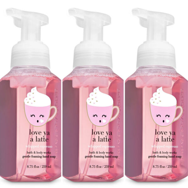 3 Pack Bath amp; Body Works LOVE YA A LATTE Whipped Espresso Foaming Hand Soap