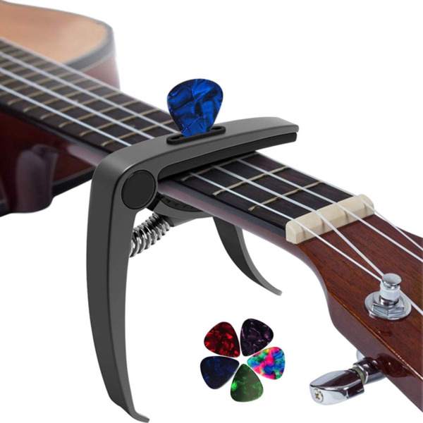 3 in 1 Metal Universal Guitar Capo with 5 Free Picks for Acoustic and Electric $6.74