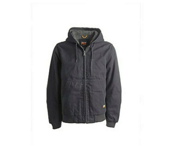 Timberland PRO Men#x27;s Gritman Fleece Lined Hooded Duck Canvas Jacket Sz XL $85.00
