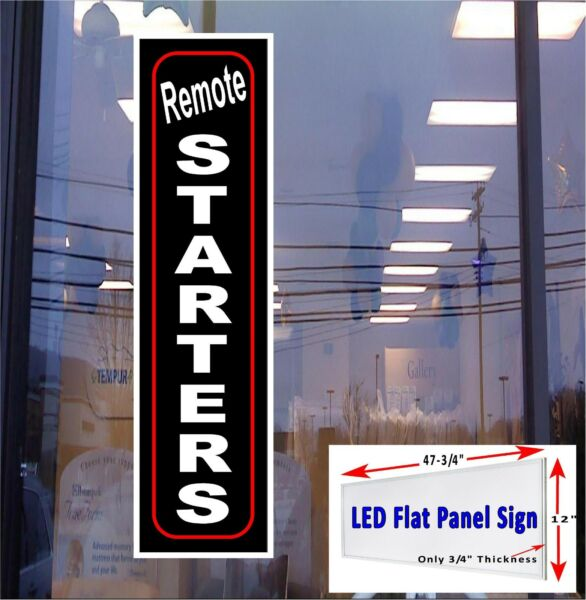 Remote Car Starters LED window advertising sign 48x12 Led flat panel design $219.95