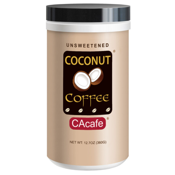 CAcafe Coconut Coffee in Jar #38505 Unsweetened 12.7oz 360g