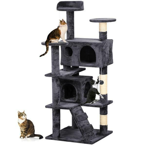 Cat Tree Condo Pet Furniture Activity Tower Play House with Scratching Posts $53.99