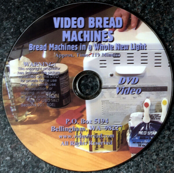 VIDEO BREAD MACHINES 119min DVD Mechanize home baking Cooking class Homeschool
