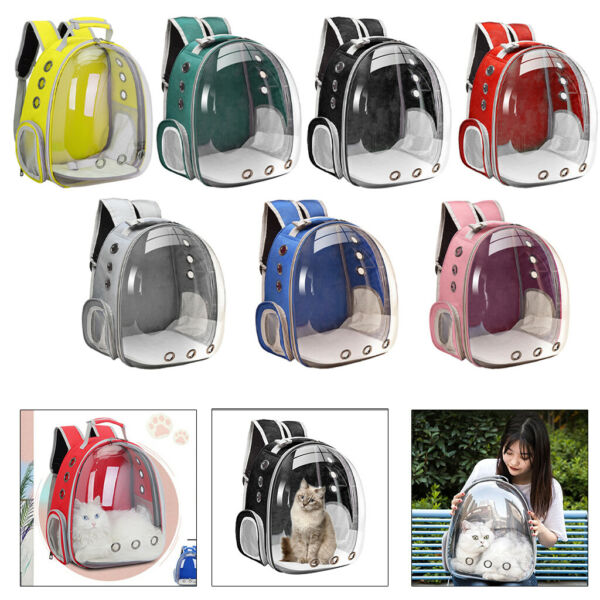 Waterproof Pet Carrier Medium Cats Backpack Dome Outdoor Small Dog Holder $38.11