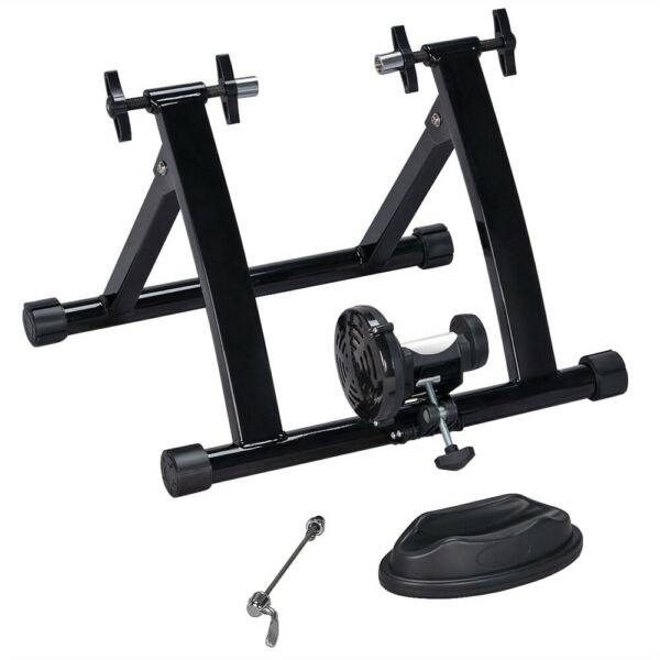 Foldable Magnetic Resistance Indoor Bike Trainer Stand w Quick Release Skewer $57.00