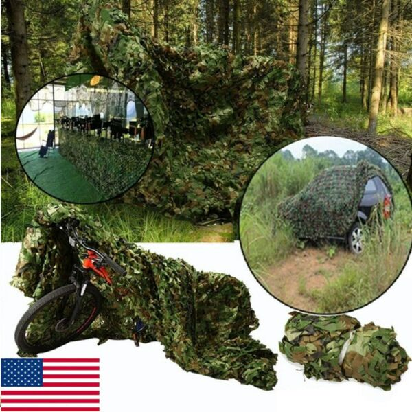 25X23 FT Woodland Shooting Hide Army Camouflage Net Hunting Cover Camo Netting