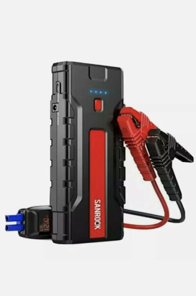 SANROCK G37 Portable Car Battery Jump 8.0L Gas 6.5L Diesel 1800A Peak 18000mAh $30.00