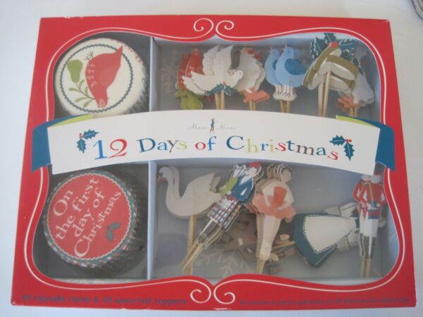 12 Days Of Christmas Cupcake Liners amp; Toppers NIB