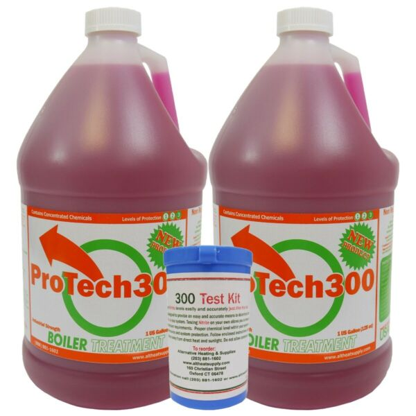 Outdoor Wood Boiler Water Treatment Rust Inhibitor 2 ProTech 300 amp; Test Kit $97.99