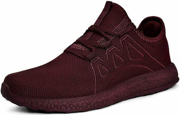 2 Pair Red Men#x27;s Ultra Lightweight Breathable Walking Shoes Athletic Shoes