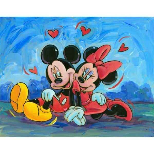 Diamond Painting Full Drill 5D Cartoon Mouse Gorgeous Kits Art Embroidery 40*30 $11.89