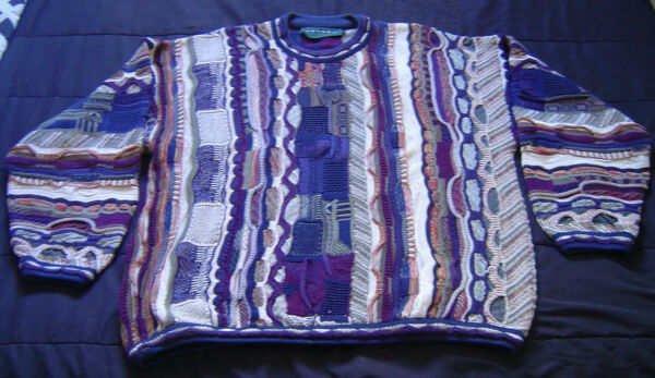 Vintage Tundra Coogi Style Multicolor Sweater Size Men#x27;s Large L 90s $40.00