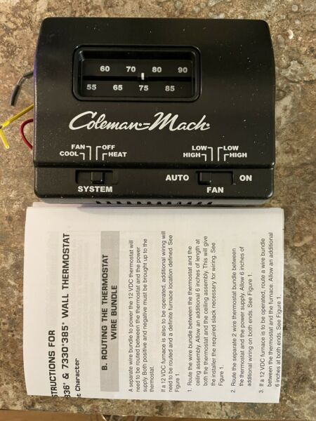 Genuine Coleman Mach RV AC Air Conditioner Heater 7330G3352 Wall Thermostat $51.99