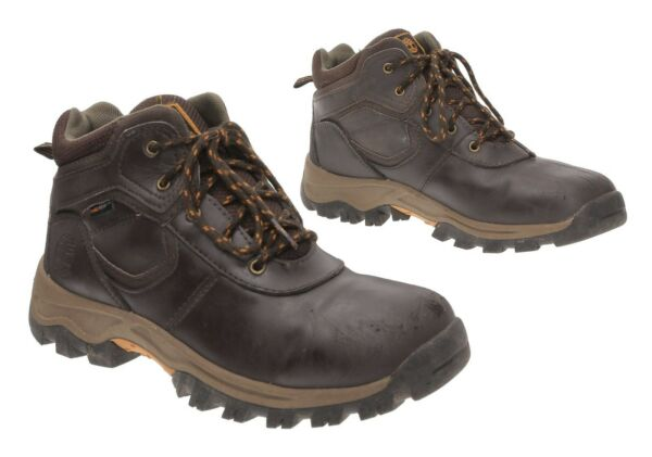 TIMBERLAND Hiking Boots 5.5 M Men Brown Leather WATERPROOF Hiker Shoes Boots $29.99
