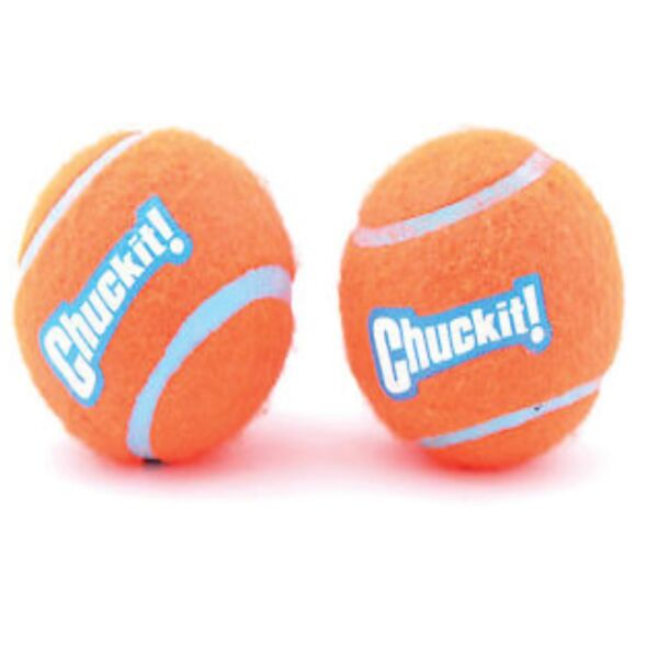 Chuckit Dog Fetch TENNIS BALLS Floating Soft Toy Fits Launcher SMALL 2 Pack $6.90