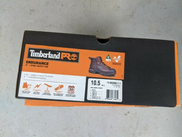 TIMBERLAND PRO ENDURANCE Steel Toe Work Boots. Mens US Size 10.5 $90.00