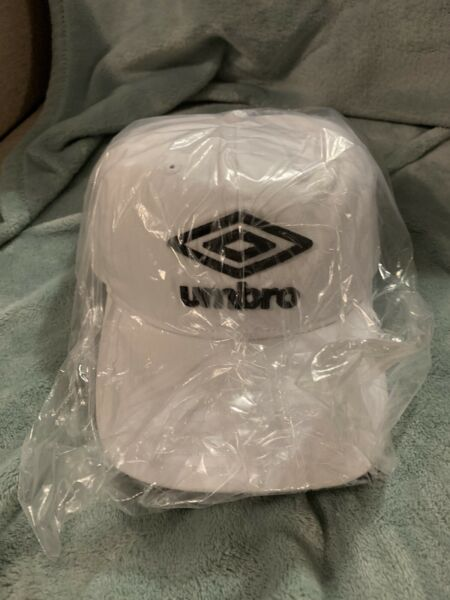 3 Pack Umbro White Hats with Black Letters All Sport Adjustable Hat $8.00