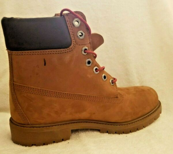 Timberland Boot Padded Collar Nubuck Leather Brown men size 7 M $75.00