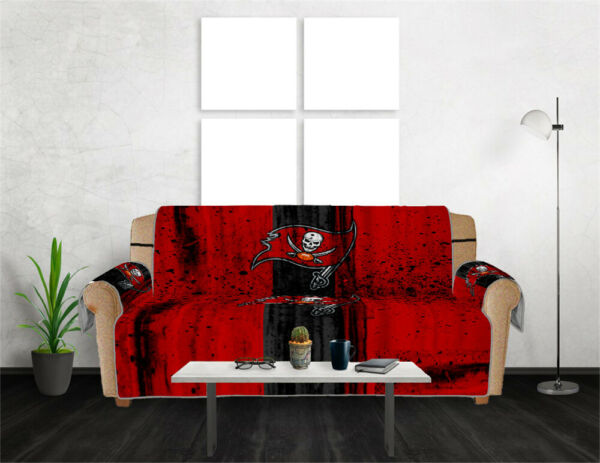 Tampa Bay Buccaneers Sofa Cover Slipcover Loveseat Chair Couch Furniture Protect $35.99